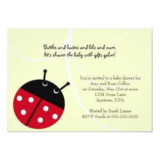 Convite amarelo do chá de fraldas da senhora convite 12.7 x 17.78cm