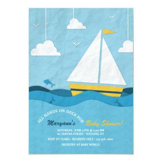 Convite amarelo do veleiro