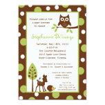 convite animal do chá de fraldas da floresta de convite 12.7 x 17.78cm