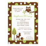 convite animal do chá de fraldas da floresta de 5x