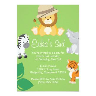 Convite animal do safari do bebê