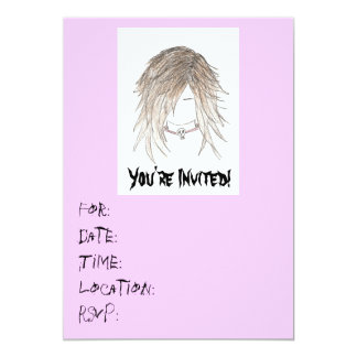 Convite-Aniversário adolescente/algum do punk do Convite 12.7 X 17.78cm