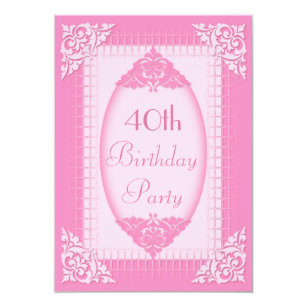 Convites Aniversário De 40 Anos Rosas Elegantes Anos Zazzlecombr