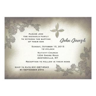 Convite antigo do baptismo dos rosas