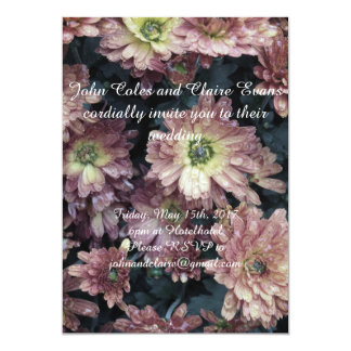 Convite antigo do casamento da flor