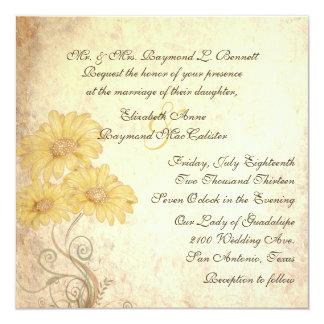 Convite antigo do casamento da reprodução dos