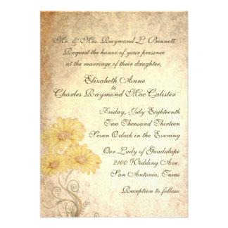 Convite antigo do casamento da reprodução dos gira