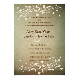 Convite antigo do casamento do outono convite 12.7 x 17.78cm