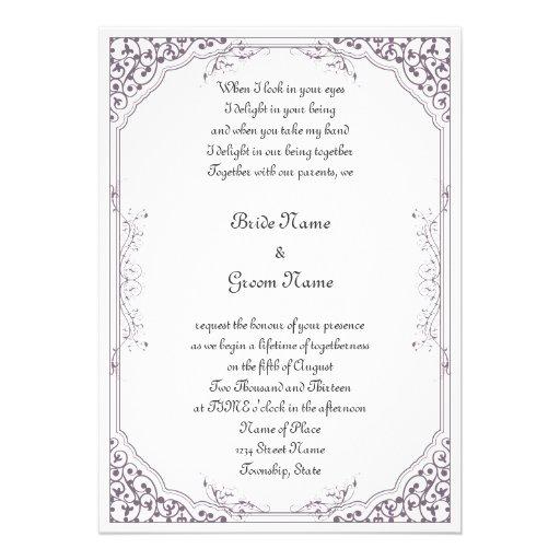 Convite antigo roxo