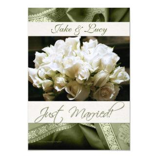 Convite & anúncio da recepção de casamento