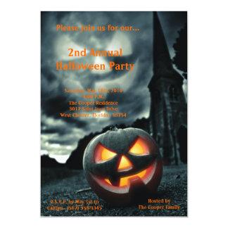 convite assustador do traje do Dia das Bruxas da Convite 12.7 X 17.78cm