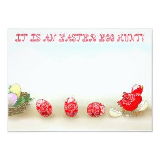 Convite ausente do ovo da páscoa dos