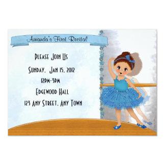 Convite azul da bailarina
