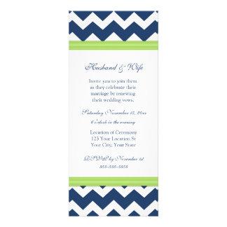 Convite azul da renovação do voto de casamento de