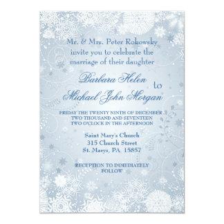 Convite azul de prata branco do casamento dos