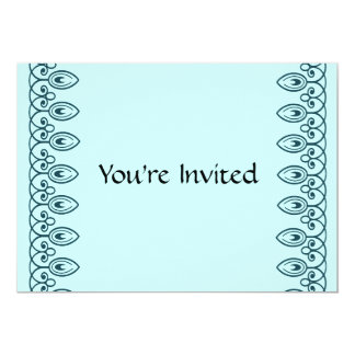 Convite azul do aniversário da cerceta