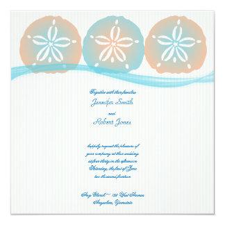 Convite azul do casamento de praia dos dólares de