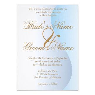 Convite azul do casamento do carnaval