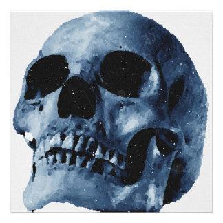Convite azul do crânio