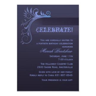 Convite azul do horizonte convite 12.7 x 17.78cm