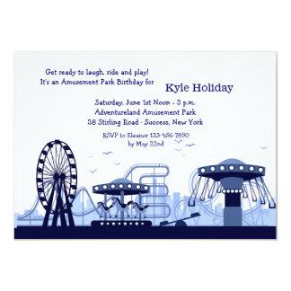 Convite (azul) do parque de diversões