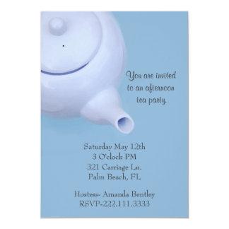 Convite azul do tea party