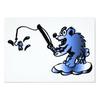 Convite azul do urso polar convite 12.7 x 17.78cm
