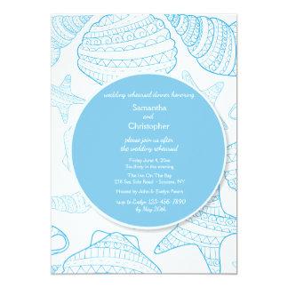 Convite azul dos escudos dos mares
