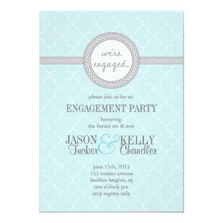 Convite azul e cinzento de Tiffany da festa de