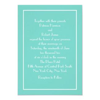 Convite azul famoso do casamento