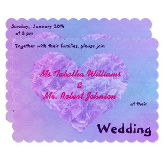Convite azul roxo do casamento do design legal do