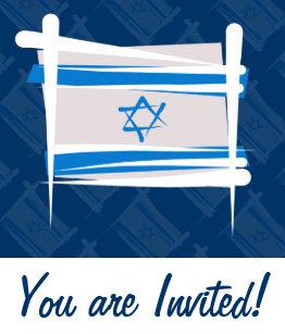 Convite Bandeira da escova de Israel d62499da0aa71