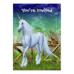 Convite bonito da fantasia da porta da floresta do convite 12.7 x 17.78cm
