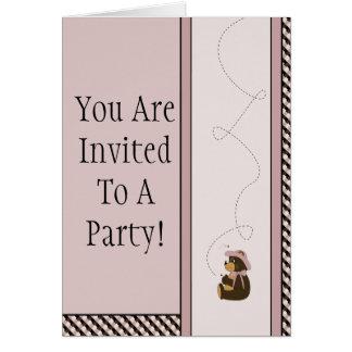 Convite bonito das amostras de folha da cor do urs cartão comemorativo