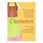 Convite bonito de Oktoberfest do Dirndl