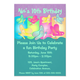 Convite bonito do aniversário da foto das