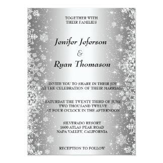 Convite bonito do casamento no inverno