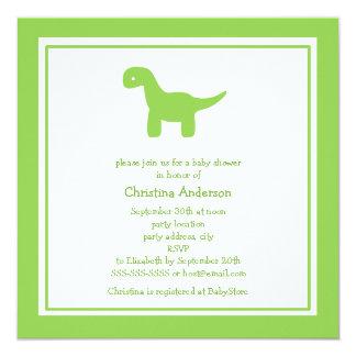 Convite bonito do chá de fraldas do dinossauro