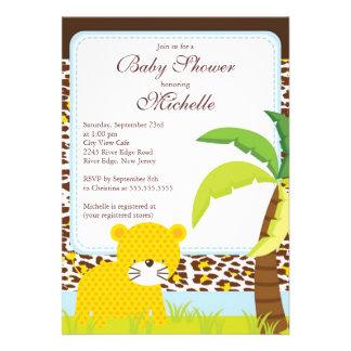 Convite bonito do chá de fraldas do safari de selv