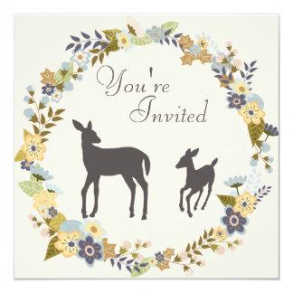 Convite bonito do chá de fraldas dos cervos da