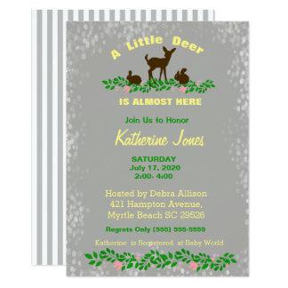 Convite bonito do chá de fraldas dos cervos do
