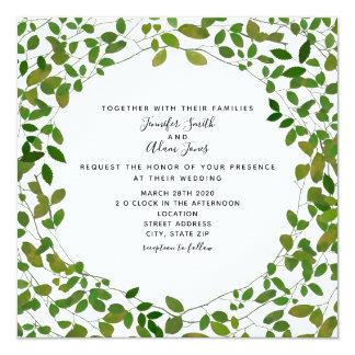 Convite botânico do casamento das hortaliças