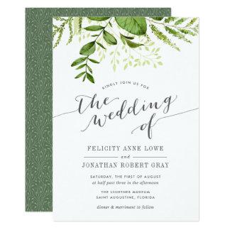 Convite botânico do casamento do prado selvagem convite 12.7 x 17.78cm