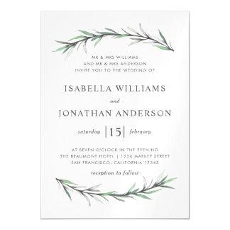 Convite botânico selvagem do casamento de Rosemary