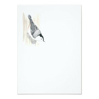 Convite Branco-breasted do pica-pau-cinzento