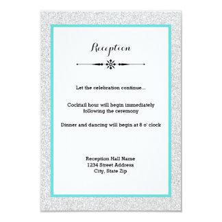 Convite branco da recepção do quadro do brilho e