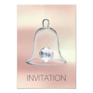 Convite branco de cristal do Vip do partido do