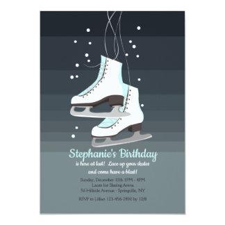 Convite branco dos skates de gelo