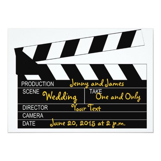 Convite Branco Preto Do Casamento Do Tema Do Filme