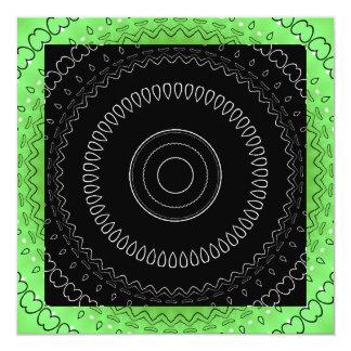 Convite branco preto verde 2 do evento do partido